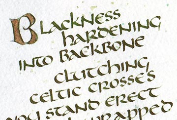 Calligraphy class uncial